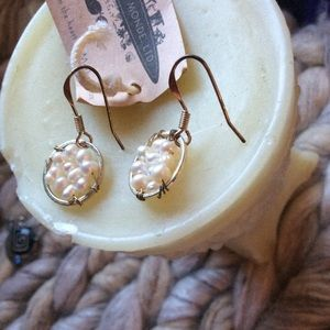 Anthropologie Jewelry - SALE‼️ Real White Pearl Cluster Earrings